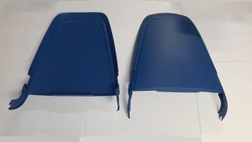 blue bucket seat backs