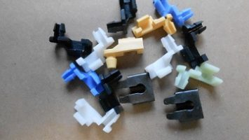 Each bid is for a set of new latch and lock rod clips. Very nice reproduction kit, with enough clips to do both doors.